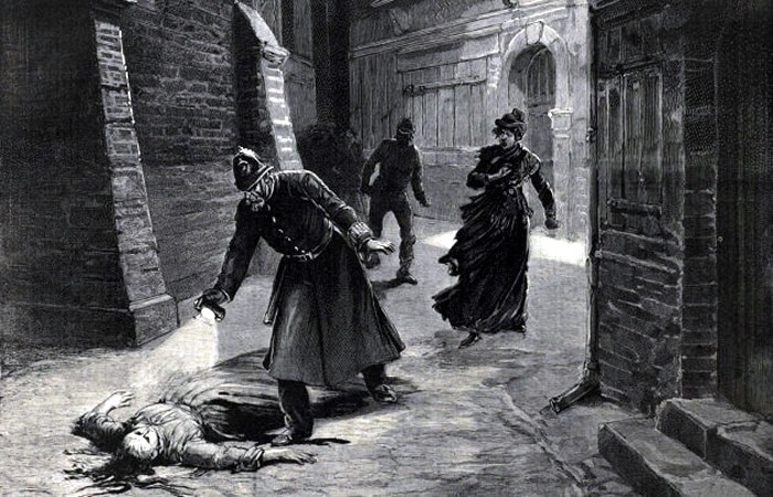 Jack the Ripper crime scene illustration
