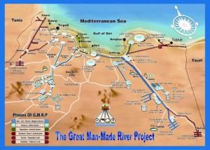 Gaddafi's great man-made river, Libya