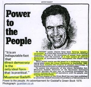 Libya Gaddafi press cutting