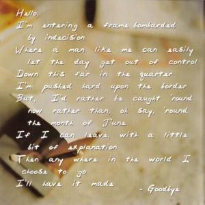Blind Melon 'Soup' album sleeve poem
