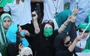 Libyan women supporting Gaddafi, 2011