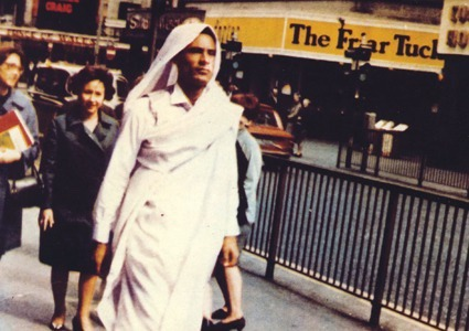 Muammar Gaddafi in Piccadilly Circus, London, 1966