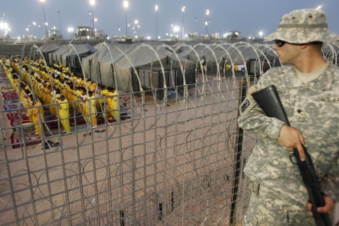 Iraqi Detainees at Camp Bucca, Iraq