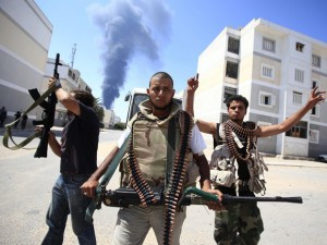 Libyan rebels fighting against Gaddafi, 2011