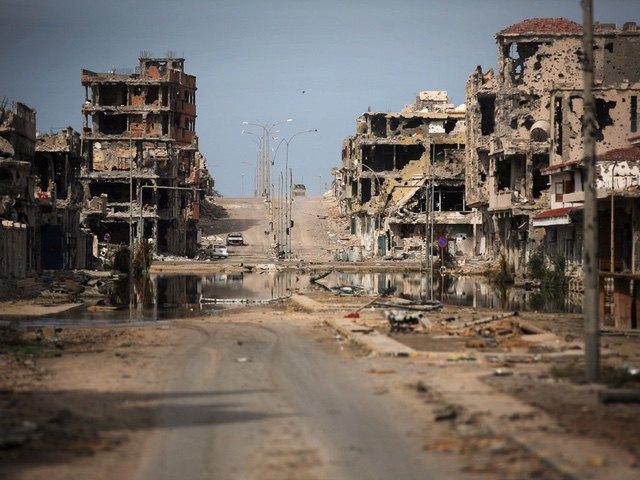 Sirte, Libya, after NATO bombing