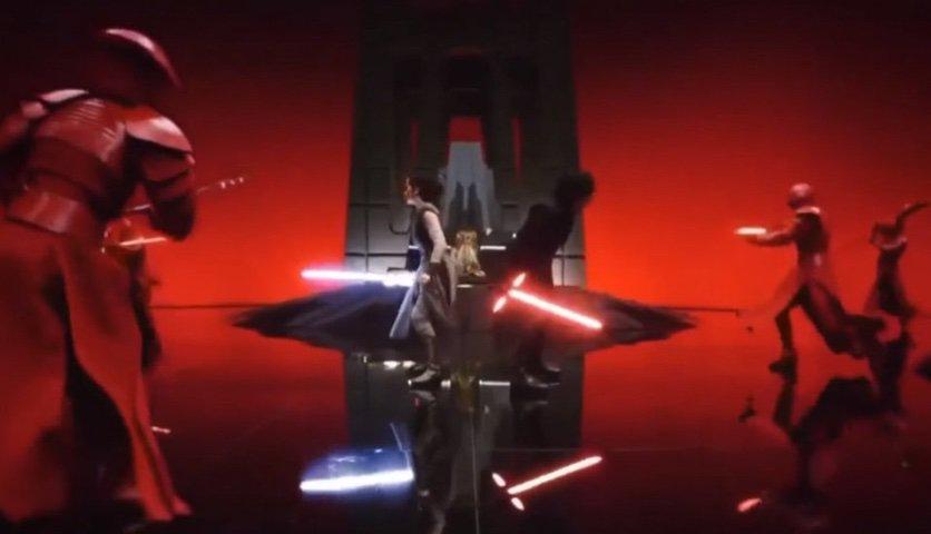 The Last Jedi: Throne Room scene