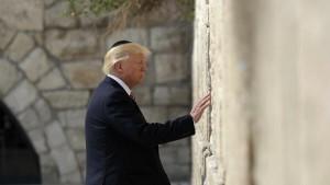Donald Trump at the Western Wall, Jerusalem