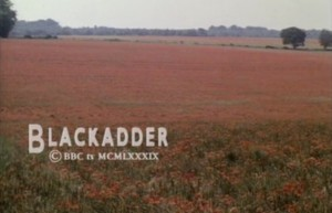 Blackadder, final scene, poppy field