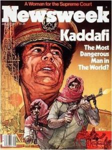 Newsweek 1980s cover of Gaddafi