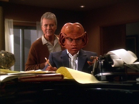 Nog and Vic Fontaine: Deep Space Nine It's Only a Paper Moon