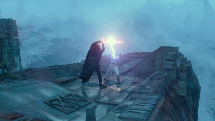 Rey vs Kylo Ren on Death Star