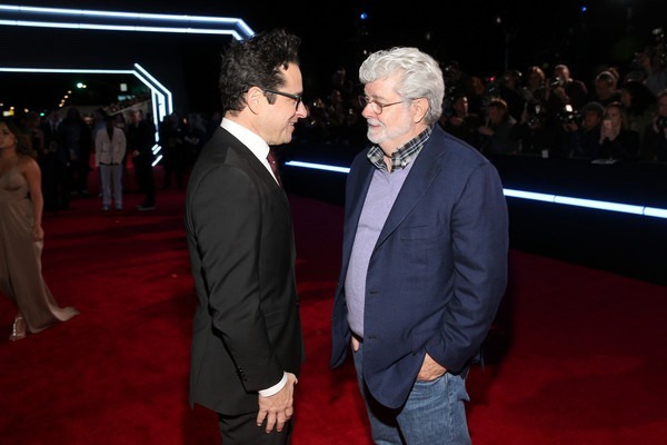 George Lucas and J.J Abrams