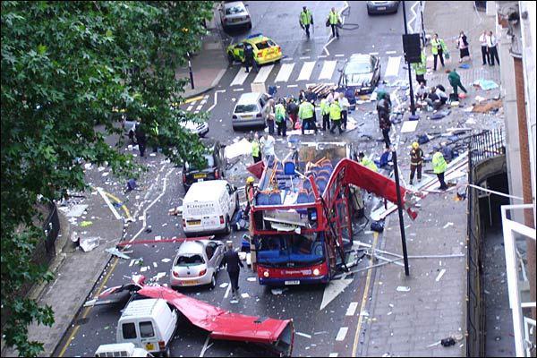 7/7 London terror attack: bus on Tavistock Square