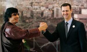 Muammar Gaddafi and Bashar al Assad