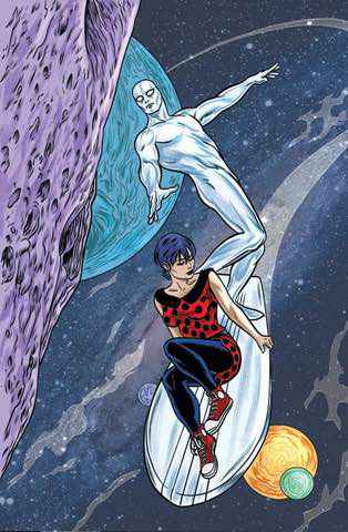Silver Surfer and Dawn Greenwood (2014): Mike Allred