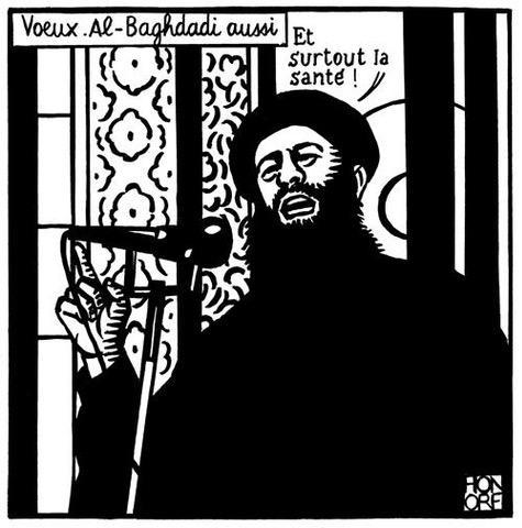 Abu Bakr al-Baghdadi, Charlie Hebdo cartoon