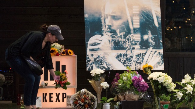 Chris Cornell memorial, Seattle. (Photo by David Ryder/Getty Images)