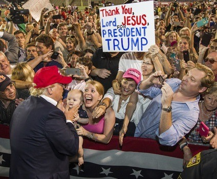 Fanatical supporters of Donald Trump