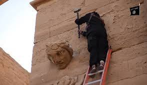 ISIS fighters destroy Iraqi historic sites