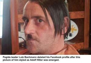 Lutz Bachman as Hitler, Pegida