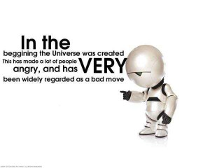 Marvin the Paranoid Android quote