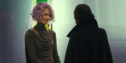 Laura Dern and Carrie Fisher in The Last Jedi