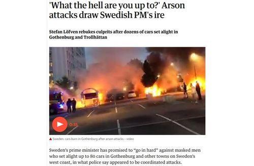 Sweden car fires, 2018