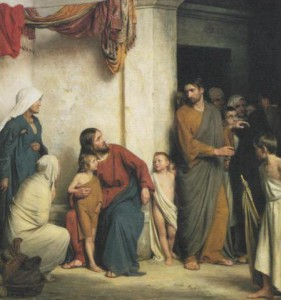 'Jesus Christ and the Little Children' by Carl Bloch