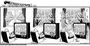 'Apathy': a political cartoon by El Machete Illustrated