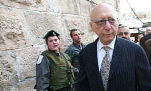 Labour MP Gerald Kaufman visiting Israel