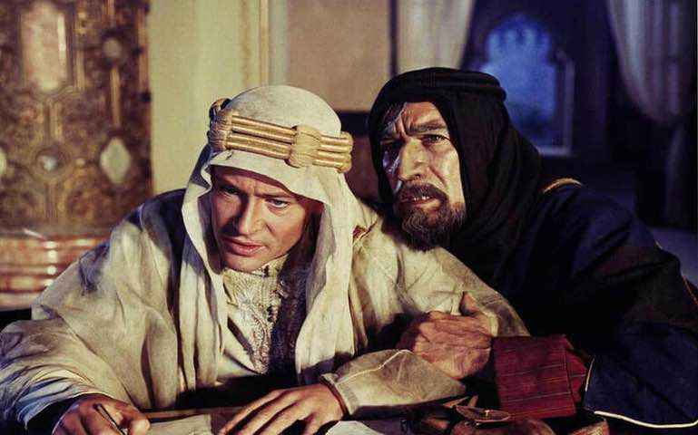 Peter O'Toole and Anthony Quinn in Lawrence of Arabia, 1963