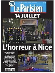 Le Parisien: coverage of the Nice terrorist attack