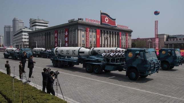 North Korea, military parade
