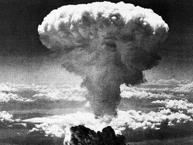 Nagasaki, 1945, mushroom cloud