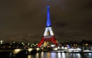 Eiffel Tower commemorating terror attack victims