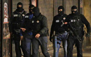 Special Forces, masked men, during Paris terror attacks in 2015