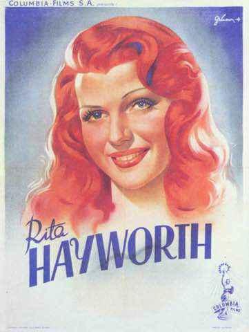 Rita Hayworth vintage poster