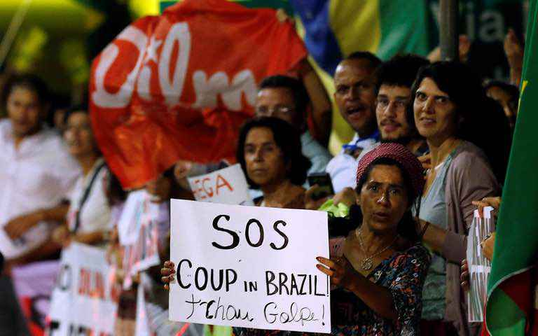 Coup against Rousseff in Brazil