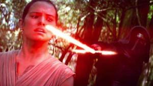 Rey and Kylo Ren, The Force Awakens