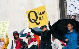 Q Anon protester