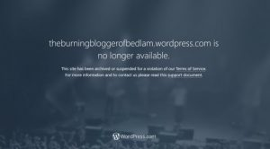 Burning Blogger of Bedlam: Censored