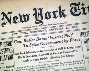 New York Times, 1934: Smedley Butler exposes fascist plot