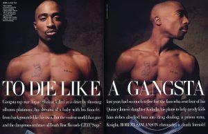 Tupac Shakur, magazine article