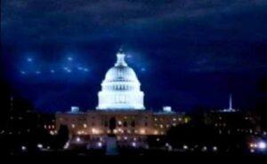 UFOs over the US Capitol, Washington DC, 1952